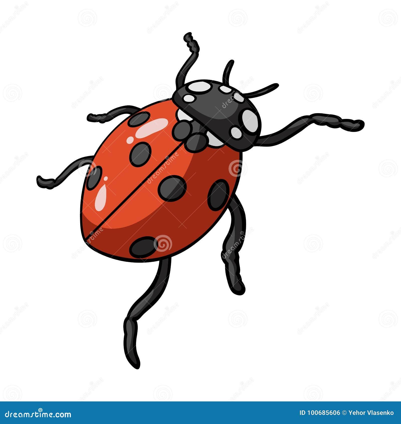 Coccinelle Symbole la coccinelle est un arthropode le scarabée d'insecte, icône simple