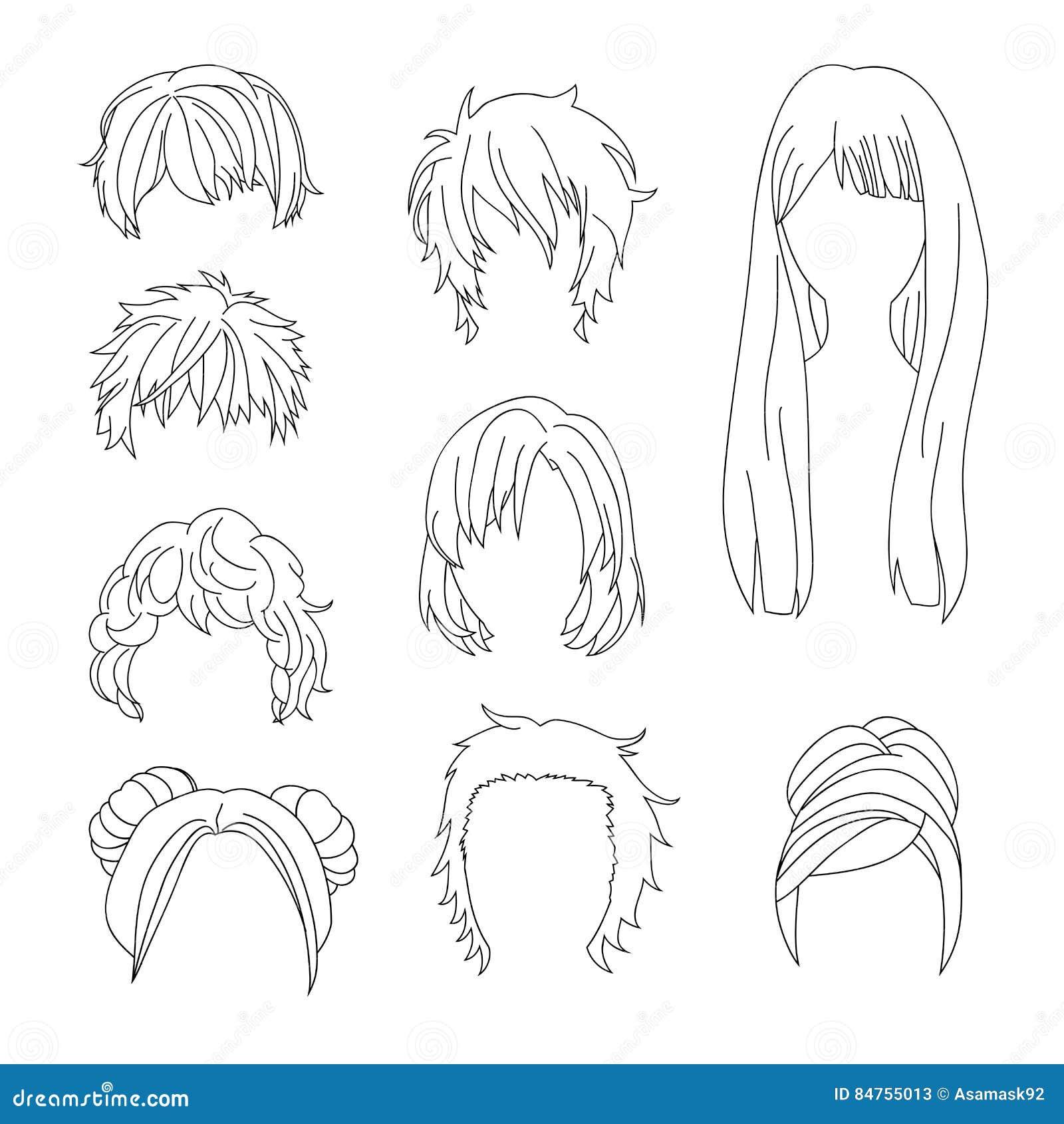 La Coiffure De Collection Pour Le Dessin De Cheveux De L Homme Et De