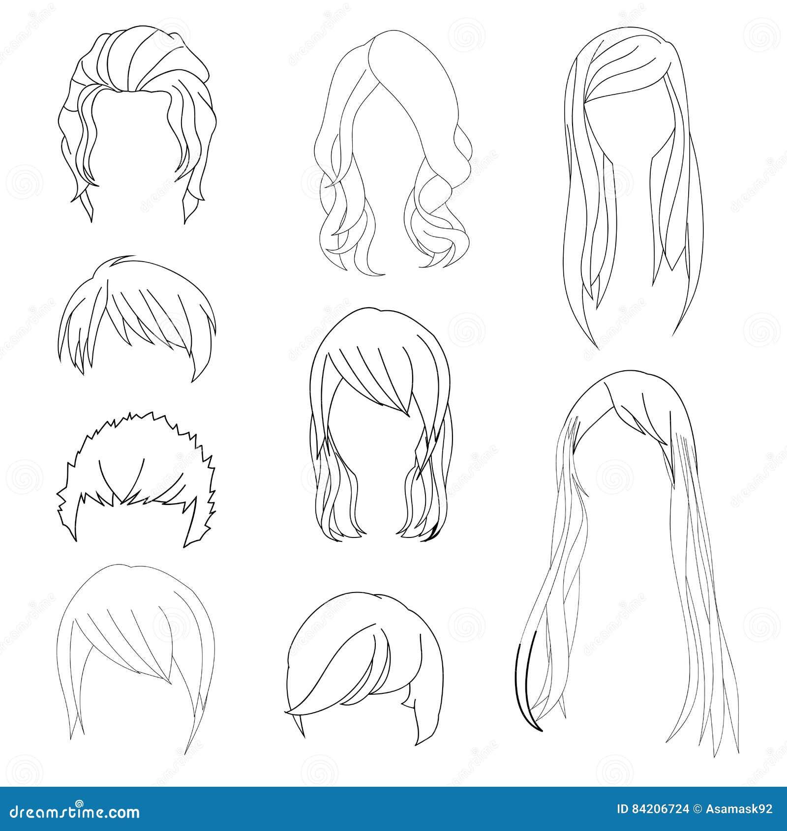 la coiffure de collection pour le dessin de cheveux de l 39 homme et de femme a plac 1. Black Bedroom Furniture Sets. Home Design Ideas