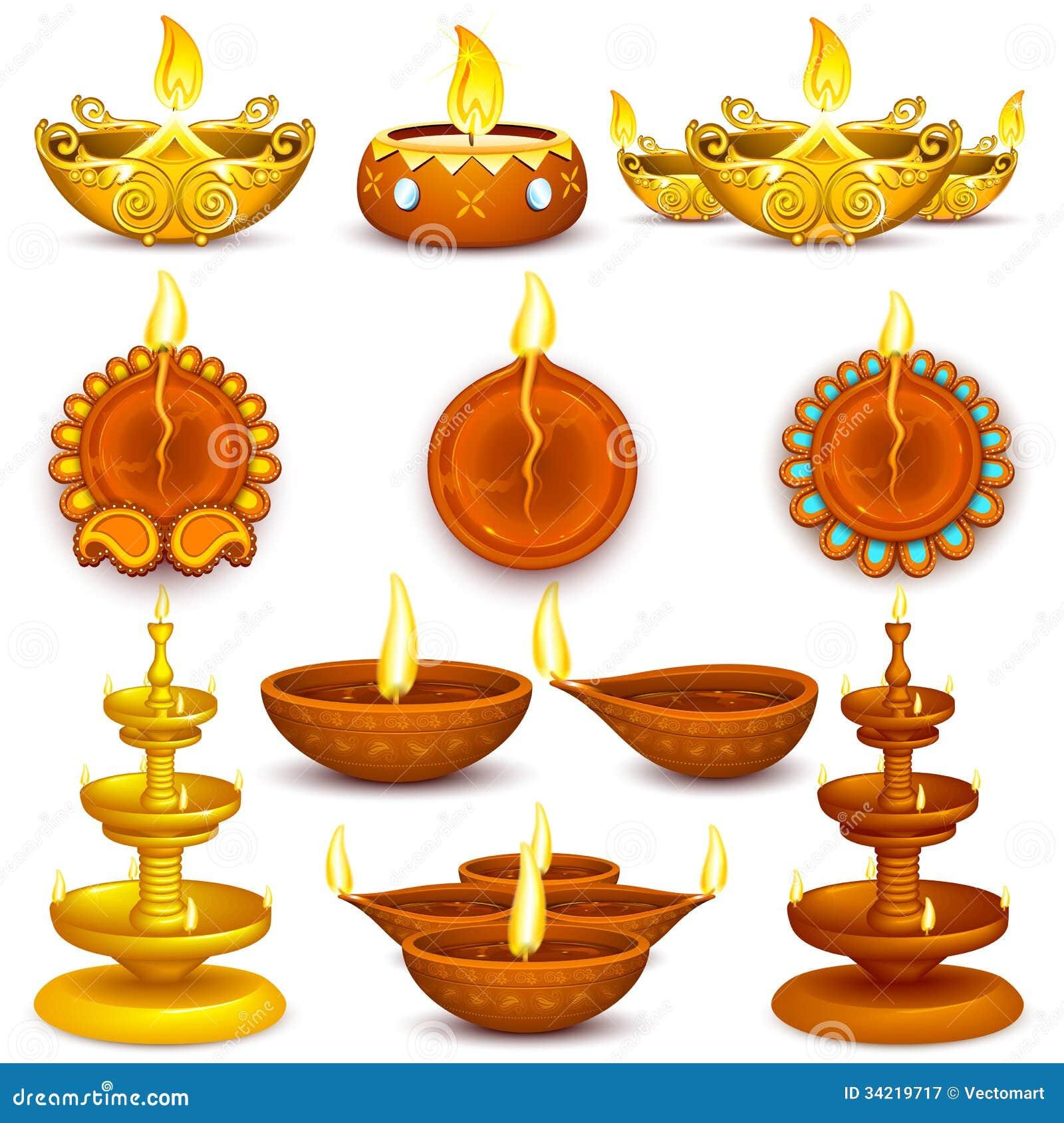 La colección de Diwali adornó Diya