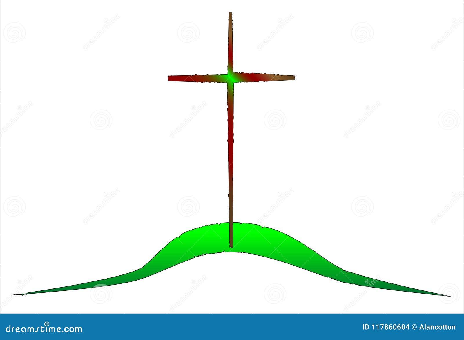 La colina verde en el Calvary