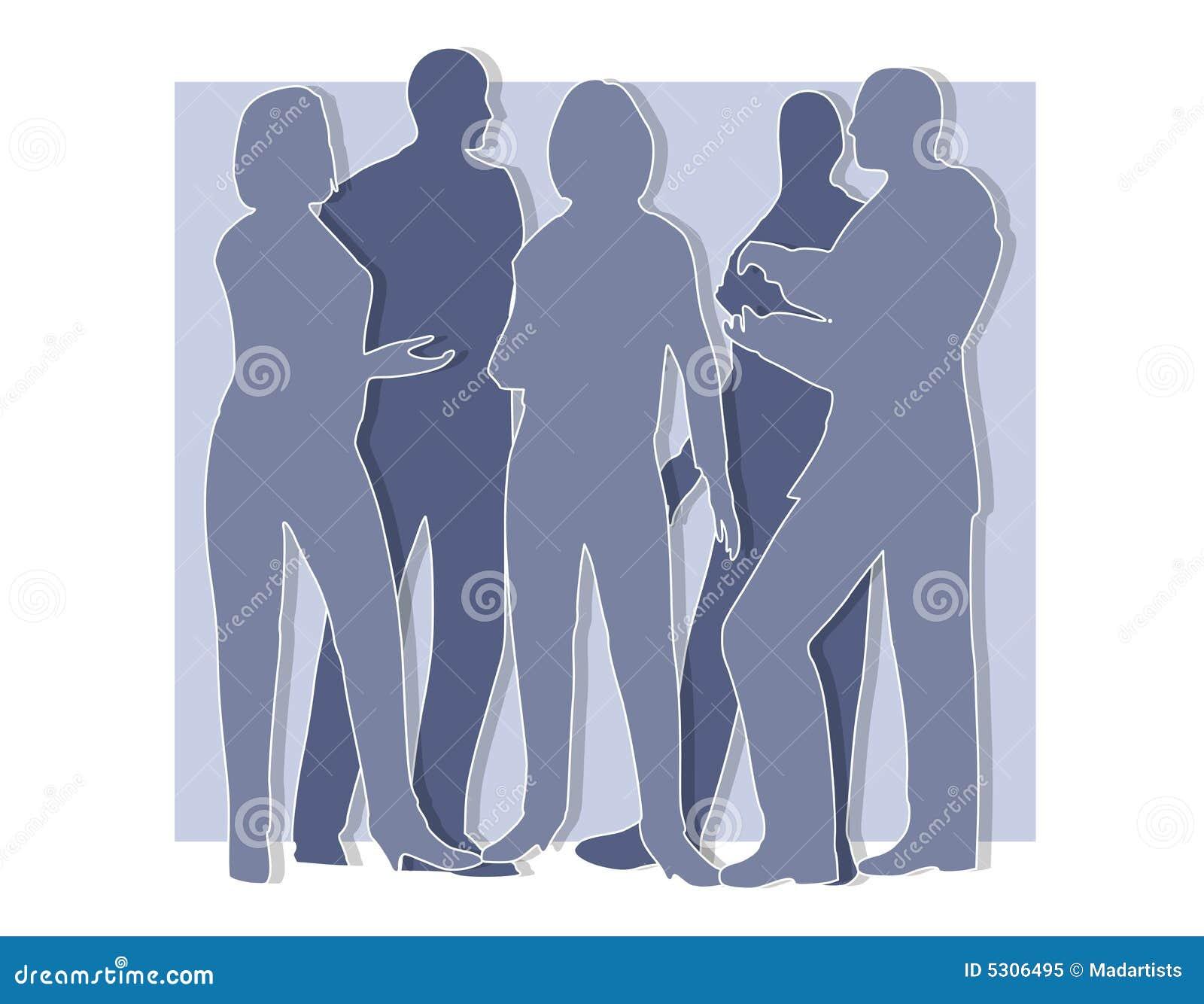 Download La Collaborazione Proietta L'azzurro Illustrazione di Stock - Illustrazione di grafico, donne: 5306495