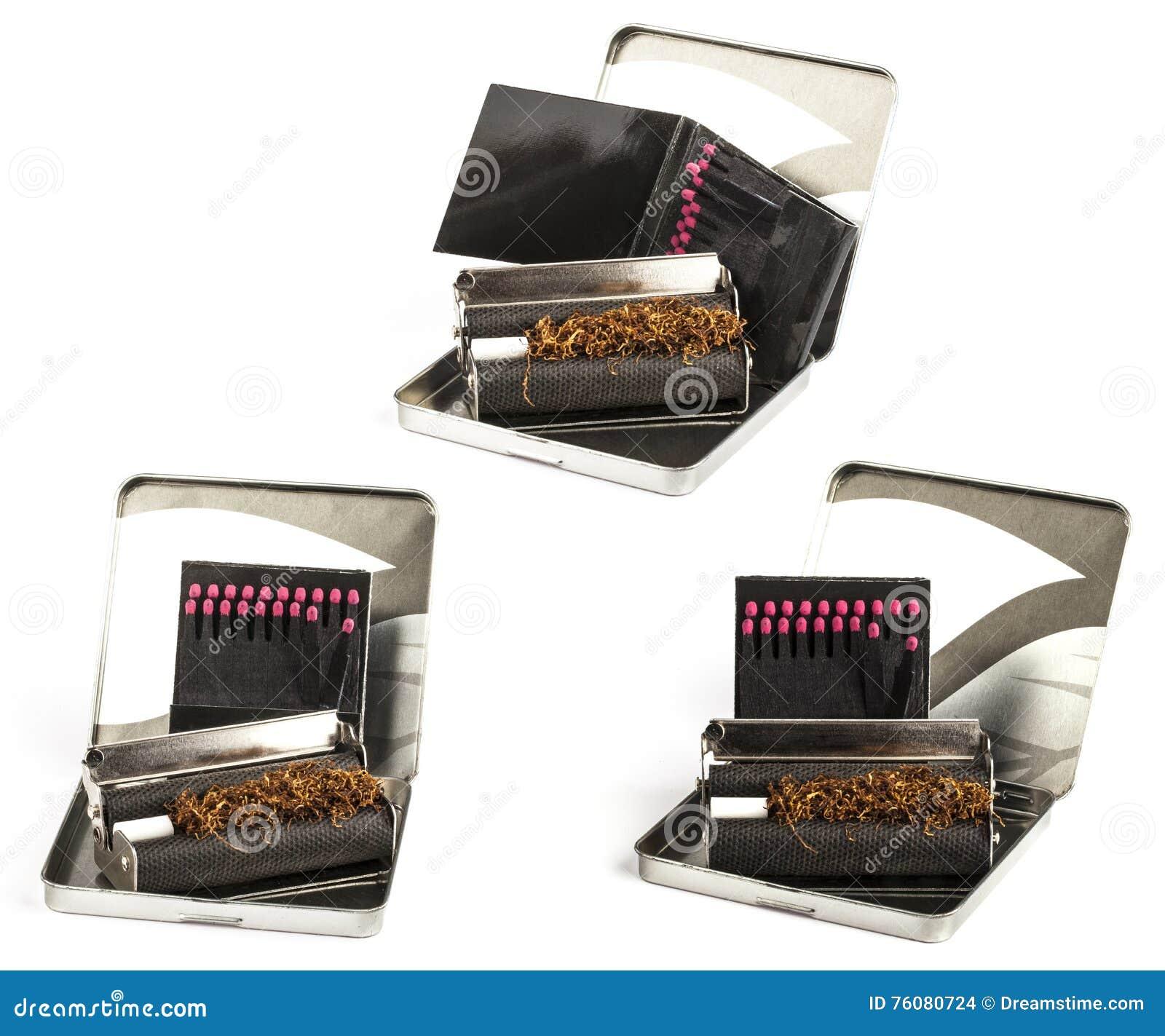 La collection d ensembles de tabagisme pour la main a roulé des cigarettes de tabac