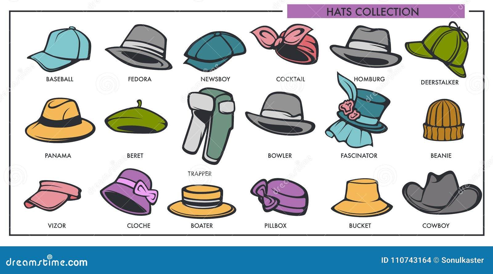 profitez de la livraison gratuite usine authentique magasin d'usine La Collection De Modèles De Chapeaux De Femme Et D'homme De ...