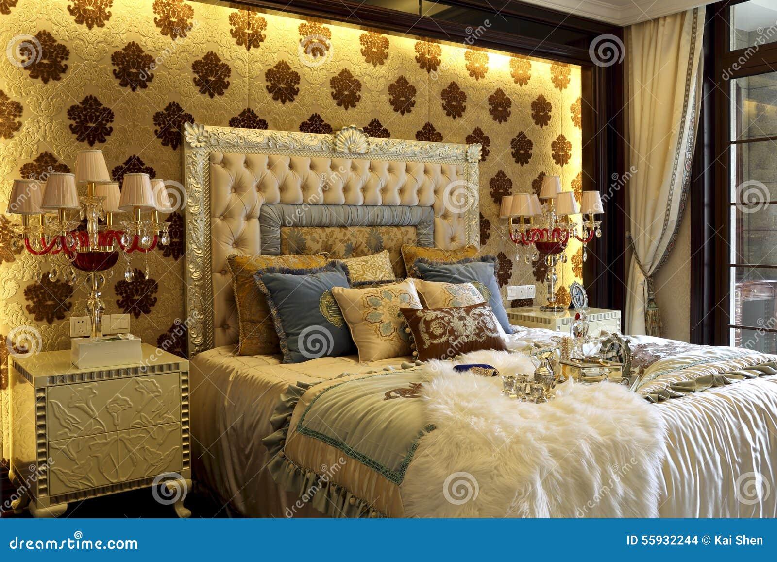 La collocazione splendida di colore della camera da letto decora fotografia stock immagine - Colore della camera da letto ...