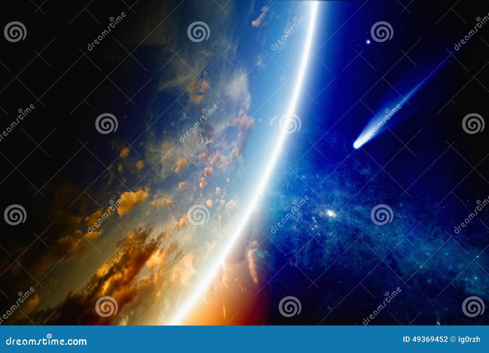 La comète approche la terre