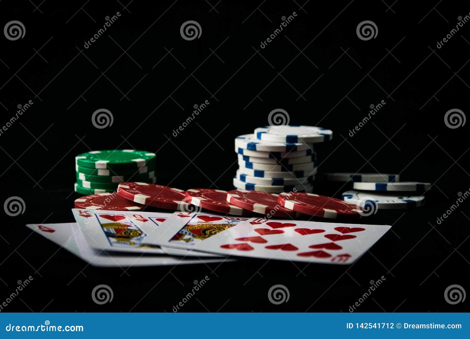 La combinazione di poker delle carte da gioco