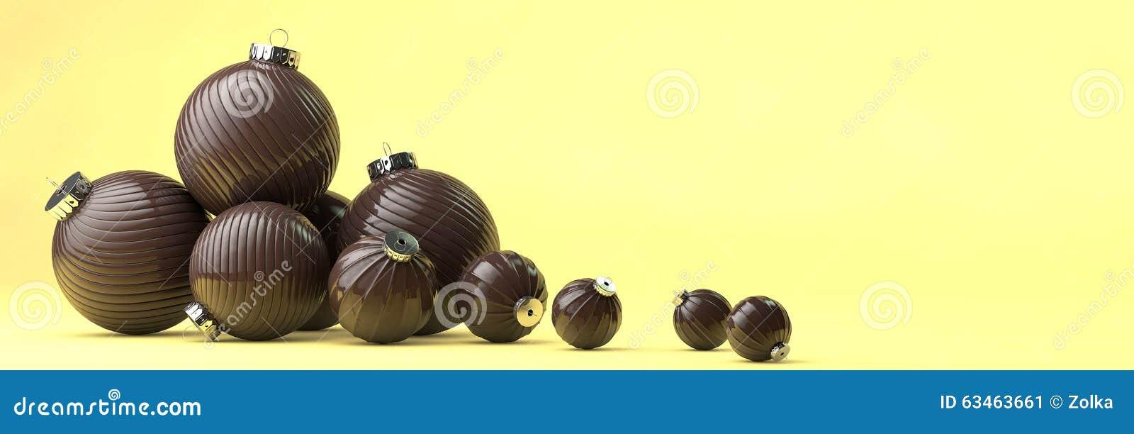 La composizione nel buon anno con cioccolato gioca la decorazione