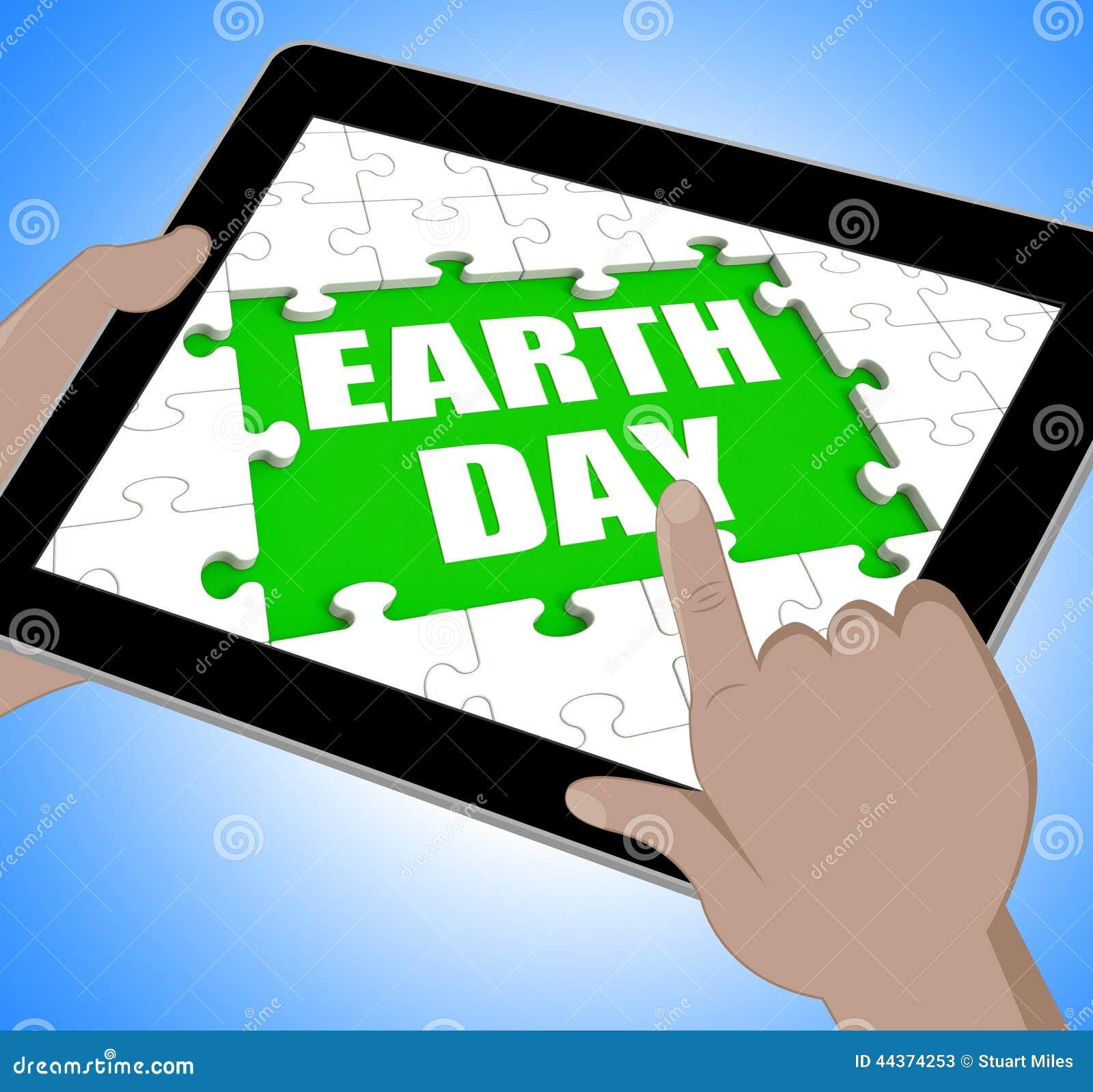 La compressa di giornata per la Terra mostra la conservazione e la protezione dell ambiente