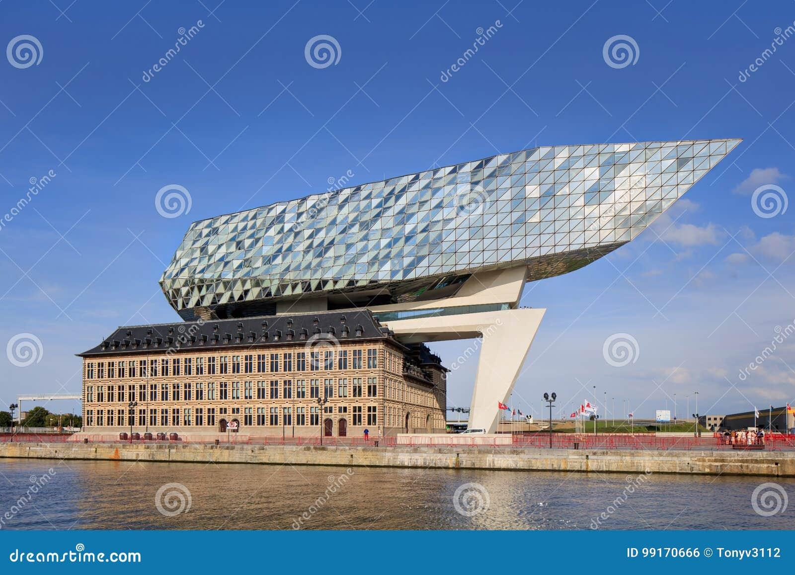 La conception de zaha hadid port d 39 anvers si ge l 39 aube anvers belgique photo ditorial - Port d anvers belgique adresse ...