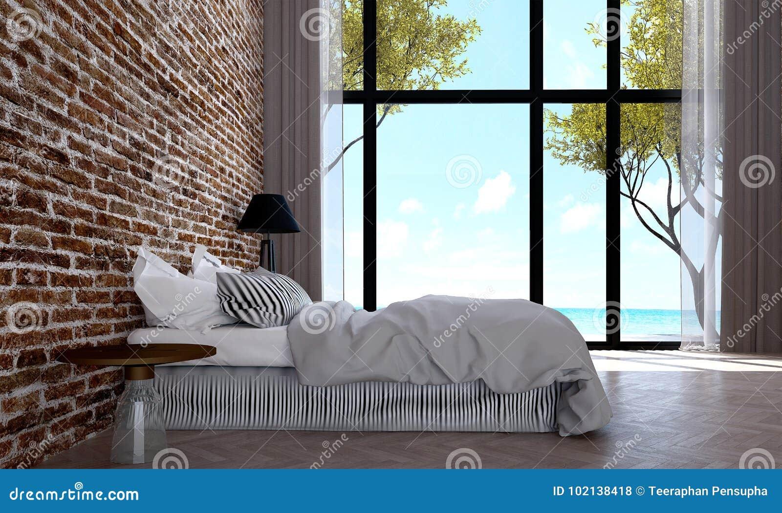 View Chambre Moderne Brique Gif