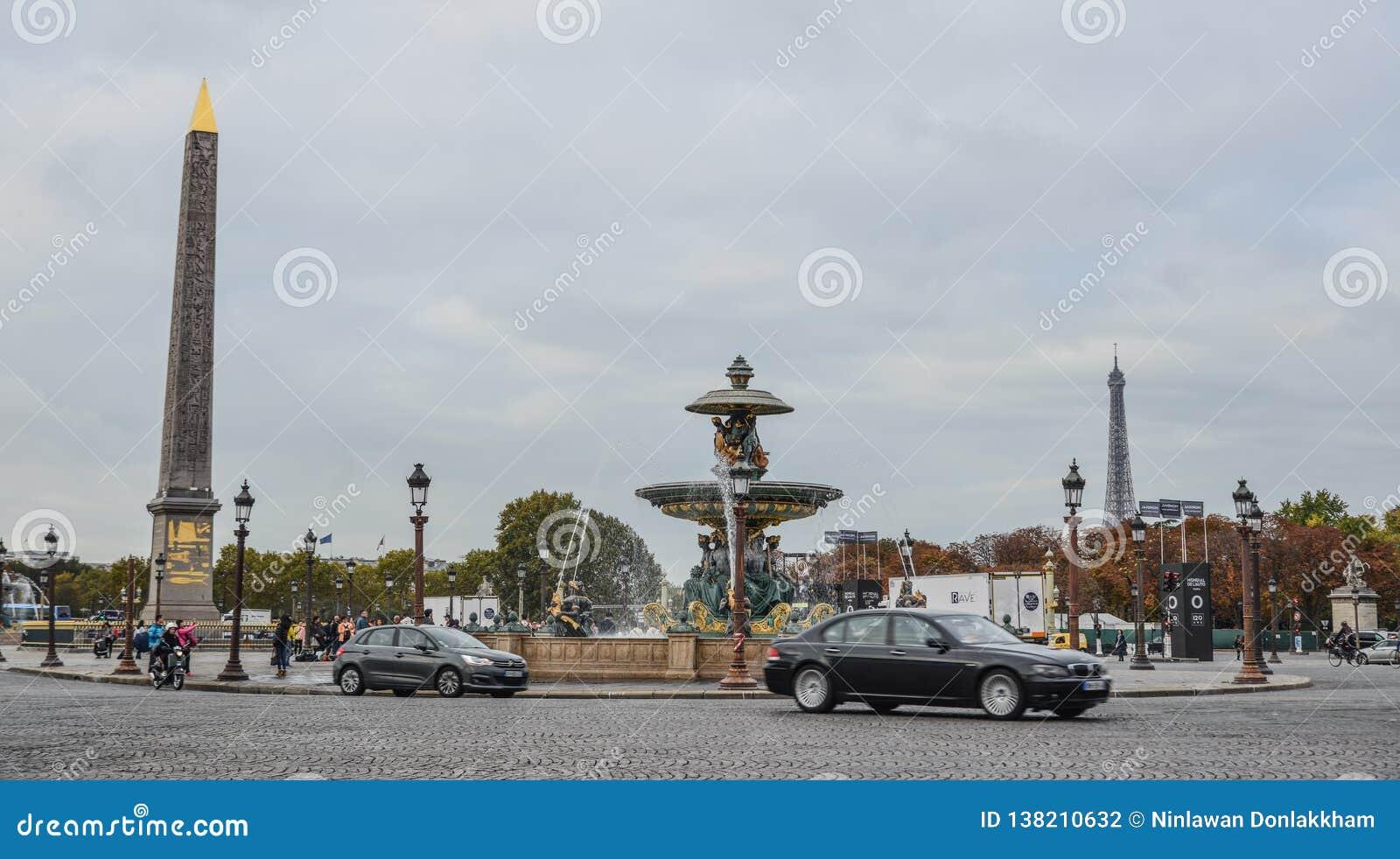 La Concorde Square av Paris, Frankrike