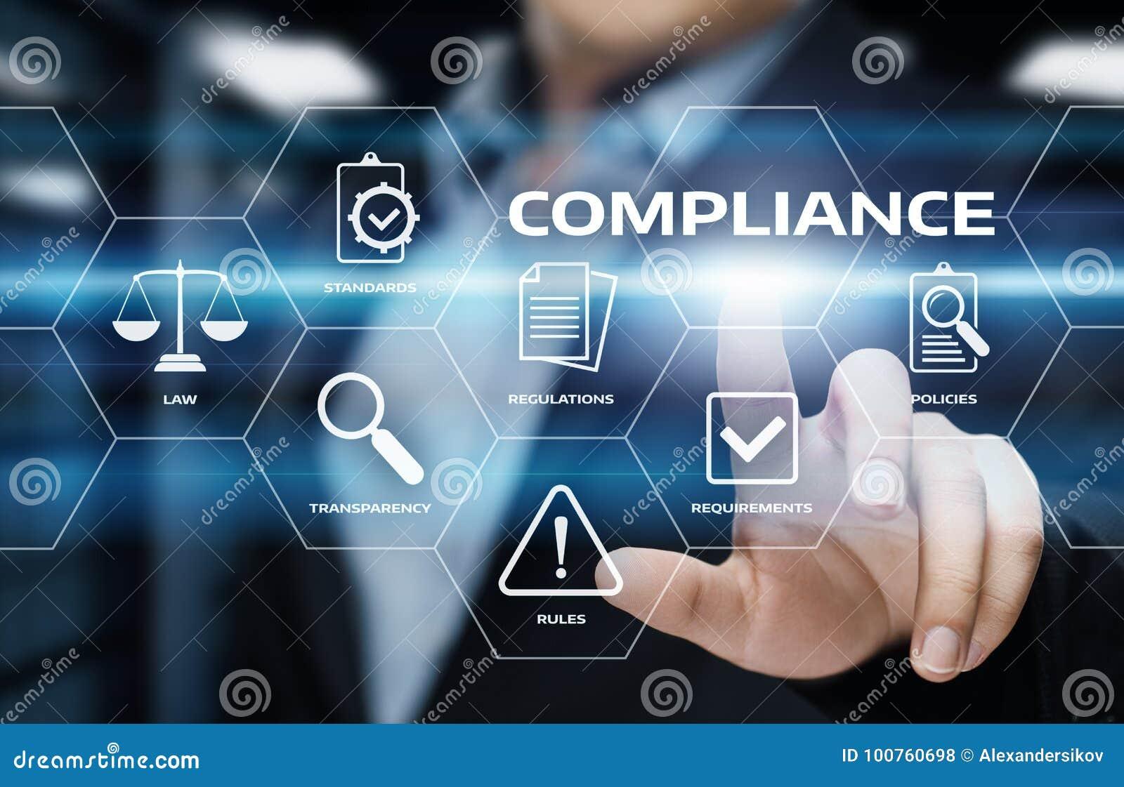 La conformité ordonne le concept réglementaire de technologie d affaires de politique de loi