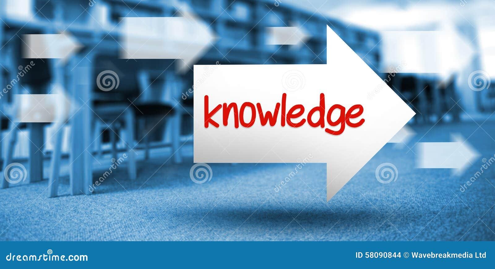 La connaissance contre des volumes de livres sur l étagère dans la bibliothèque