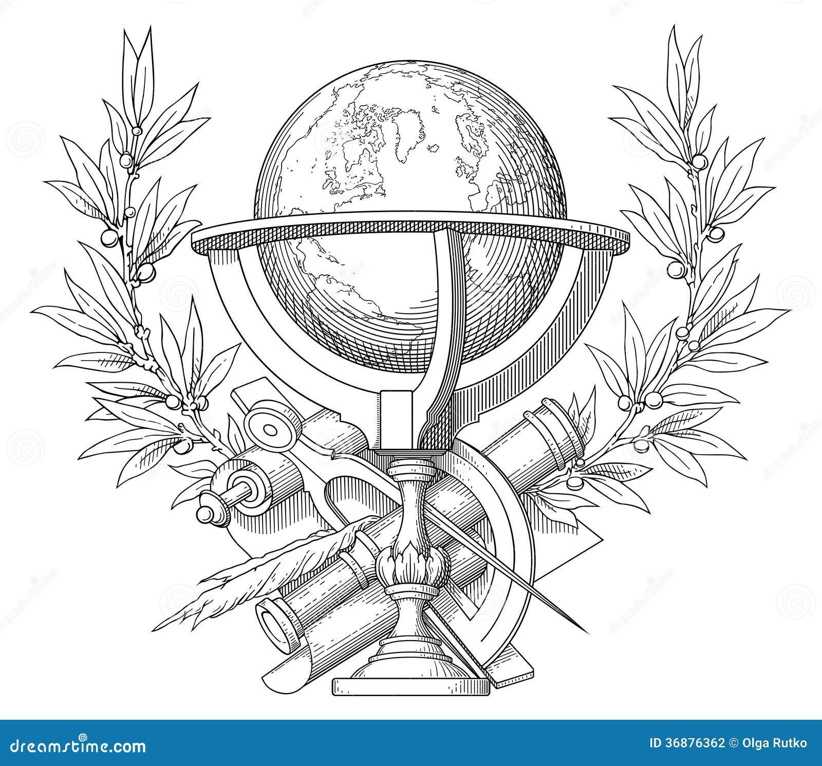 Download La conoscenza è forza! illustrazione vettoriale. Illustrazione di arte - 36876362