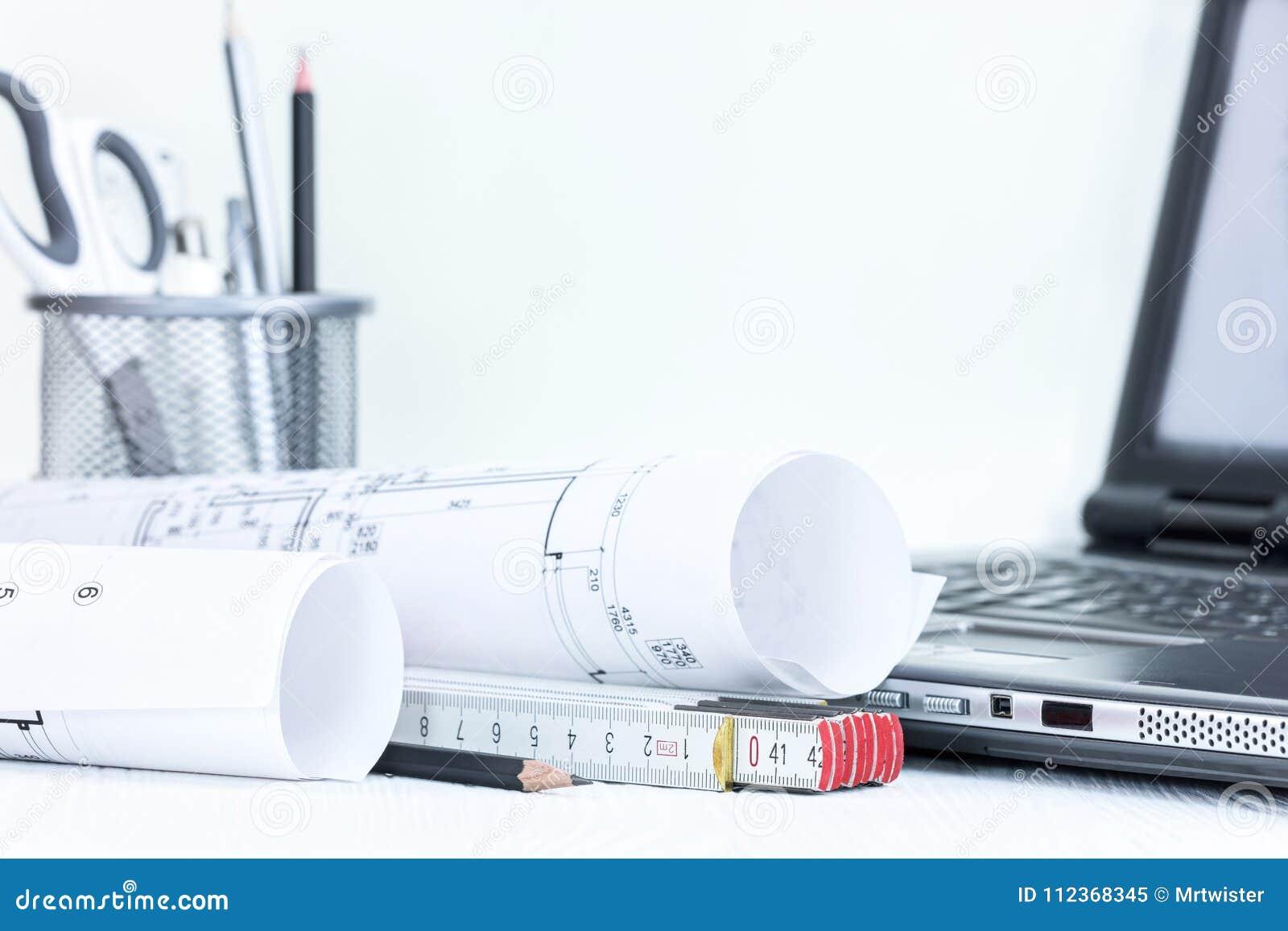 La Construccion Blueprints La Medicion Y Las Herramientas De Dibujo