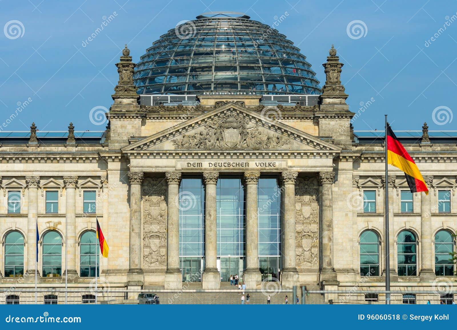 La construction de Reichstag berlin l allemagne