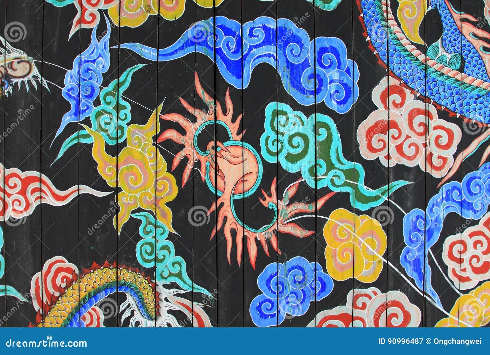 La Corée Dragon Painting
