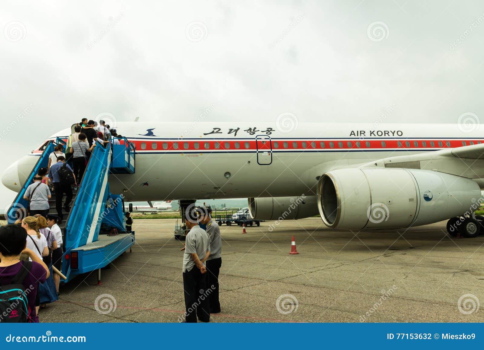 La CORÉE DU NORD, PYONG YANG - juillet : Air Koryo surfacent le 31 juillet 2014 dedans à Pyong Yang,