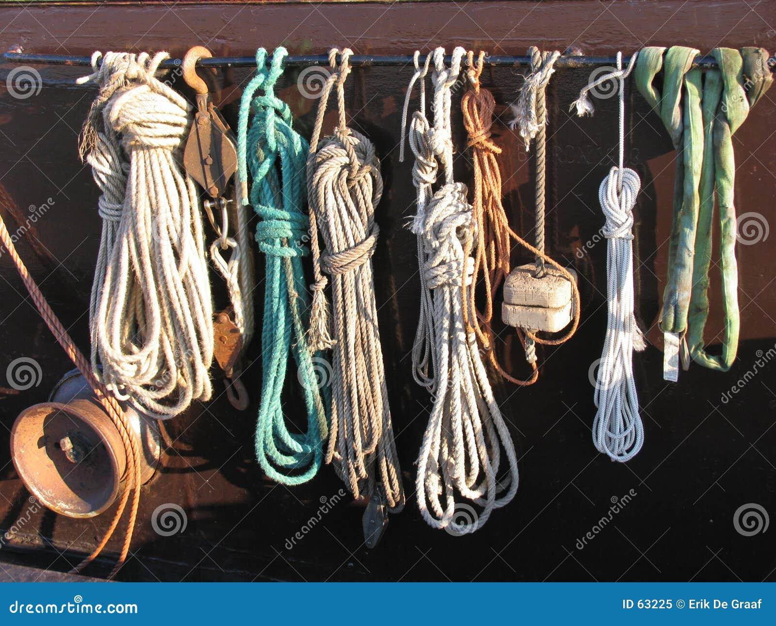 Download La corde du pêcheur image stock. Image du nautique, bateau - 63225