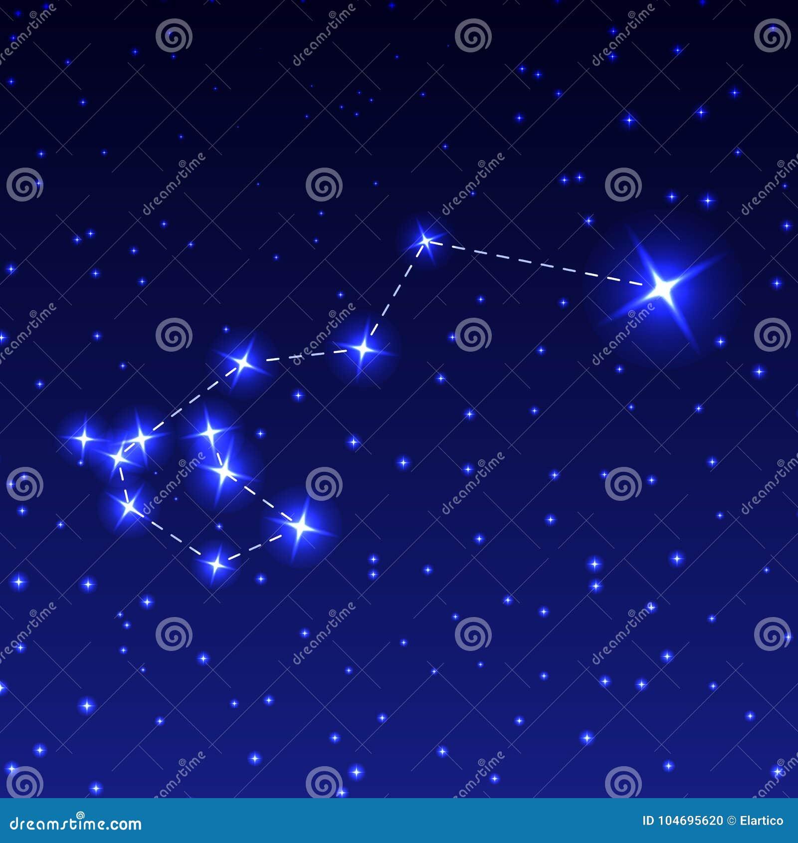 Blue Dream Cielo Stellato Costo.La Costellazione Di Carena Nel Cielo Stellato Di Notte Illustrazione