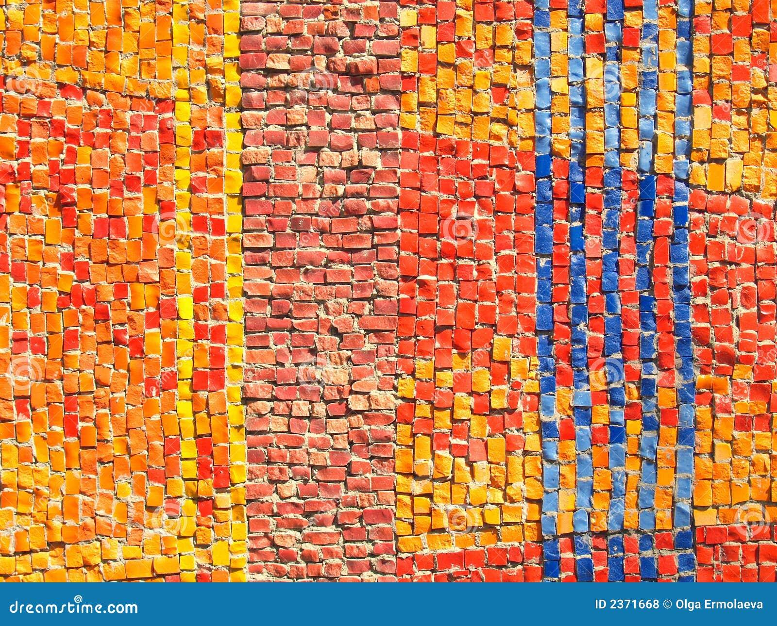 La couleur couvre de tuiles la texture de mosaïque