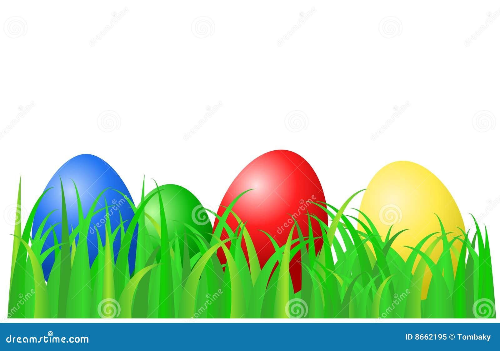 La couleur eggs la pose de vert d herbe