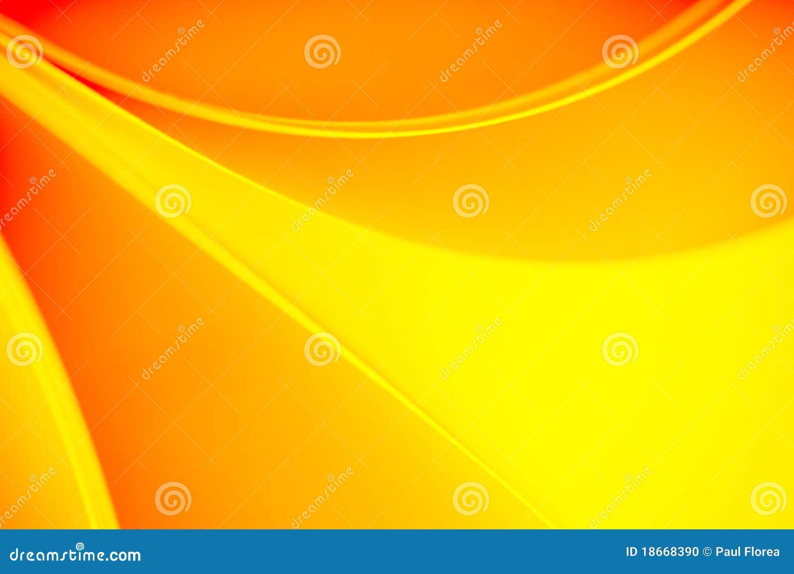 ... de papier incurvées dans des sons jaunes et oranges de couleur