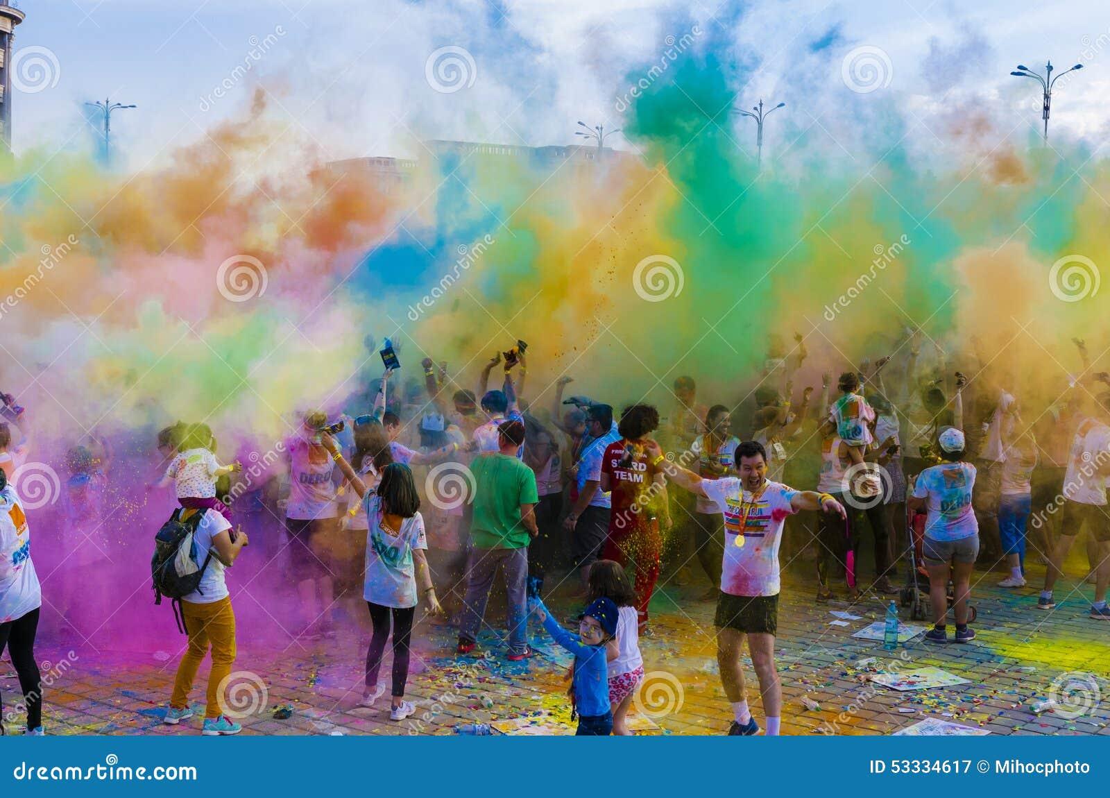 La course Bucarest de couleur