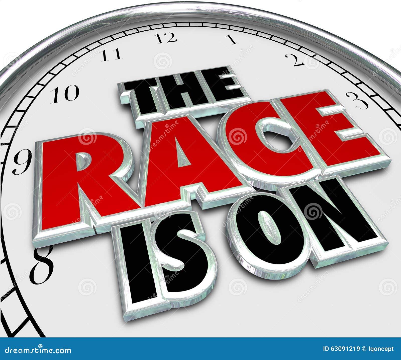 Download La Course Est Sur Commencer De Défi De Concurrence De Jeu D'horloge Illustration Stock - Illustration du excitation, horloge: 63091219