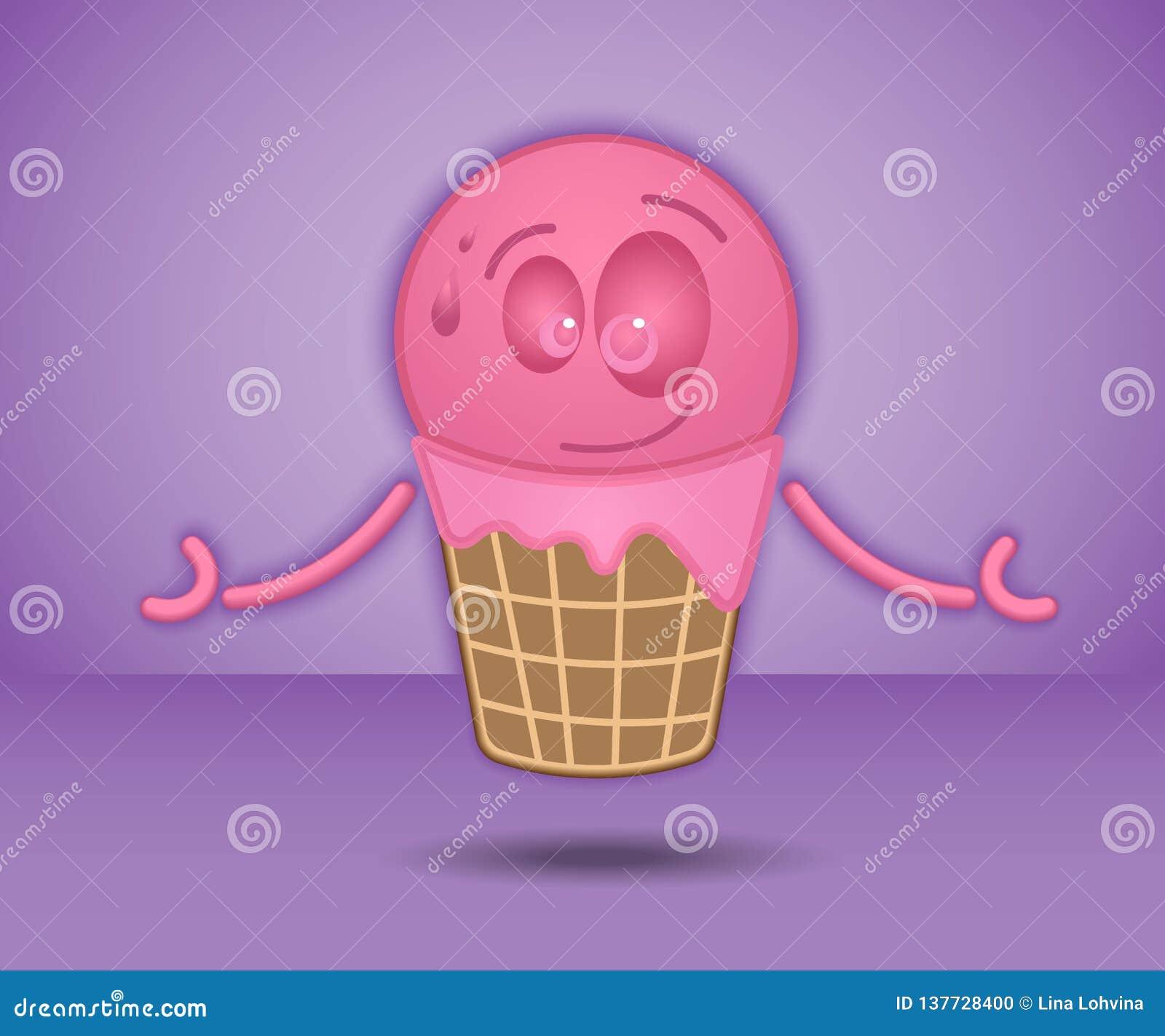 La crème glacée d amusement décorera n importe quelle conception