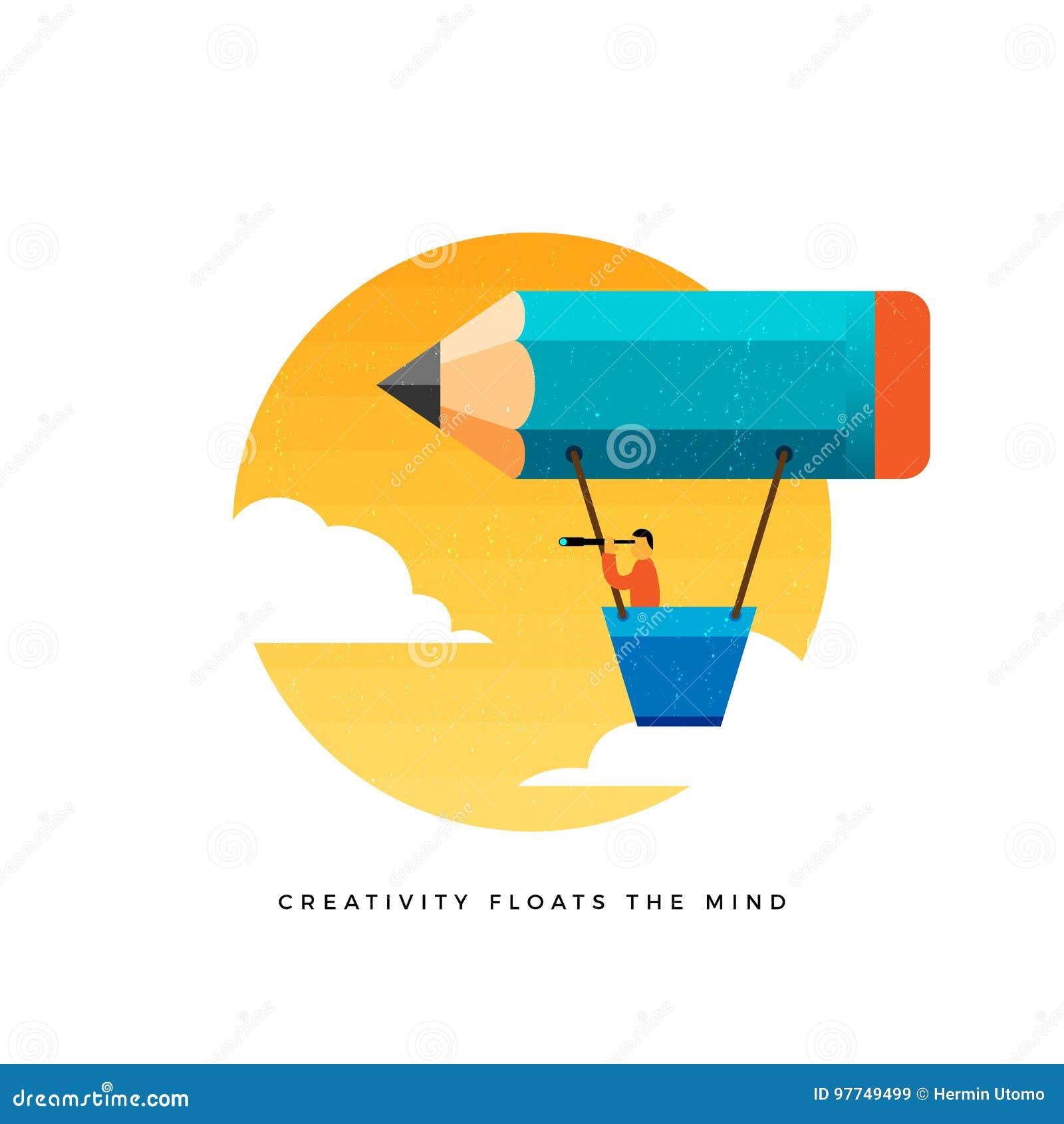 La créativité flotte l esprit