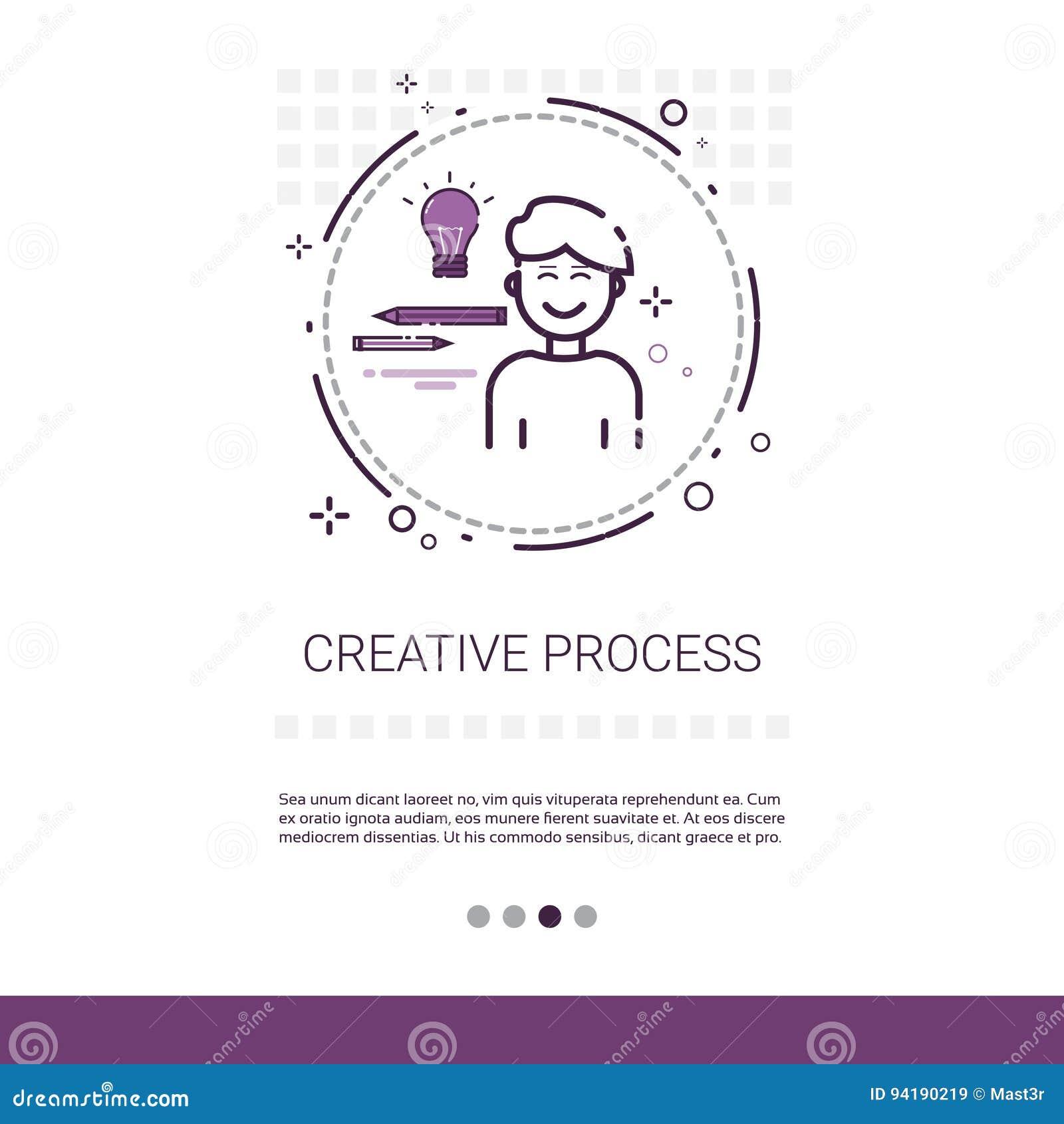 La créativité pensent la bannière de processus créative de Web d affaires de nouvelle inspiration d idée avec l espace de copie