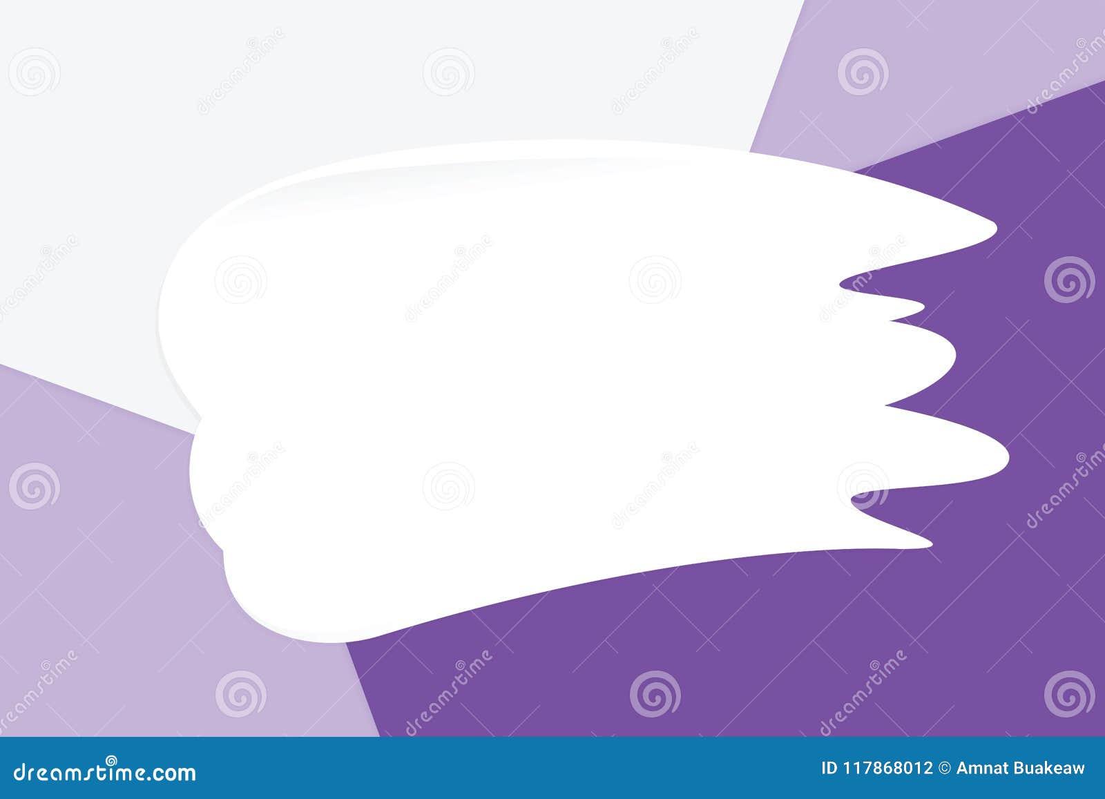 La crema blanca de la mancha en los cosméticos de papel suaves en colores pastel coloridos del fondo para la copia espacia el men