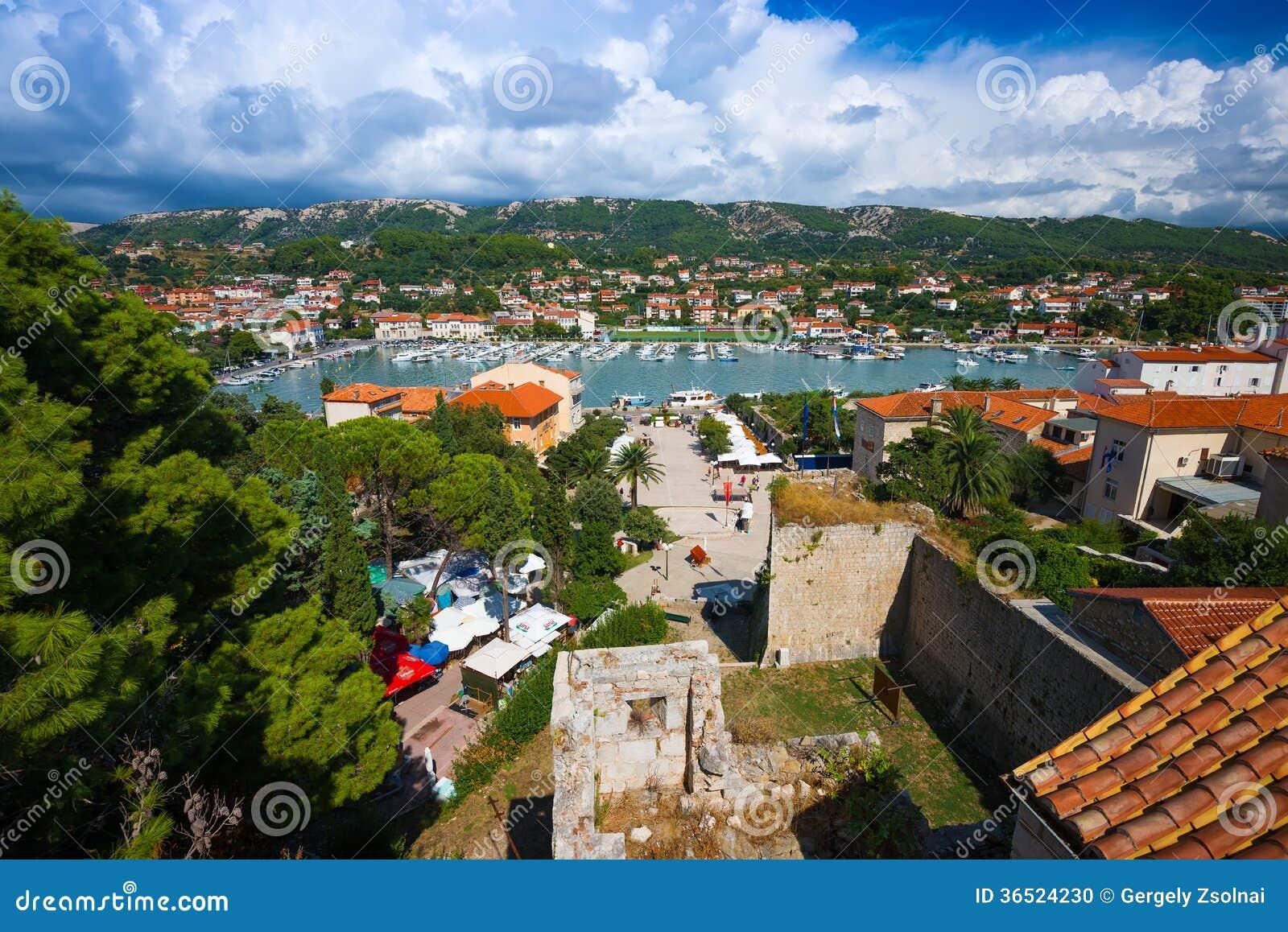 La Croatie, Rab City, belle vue de la mer