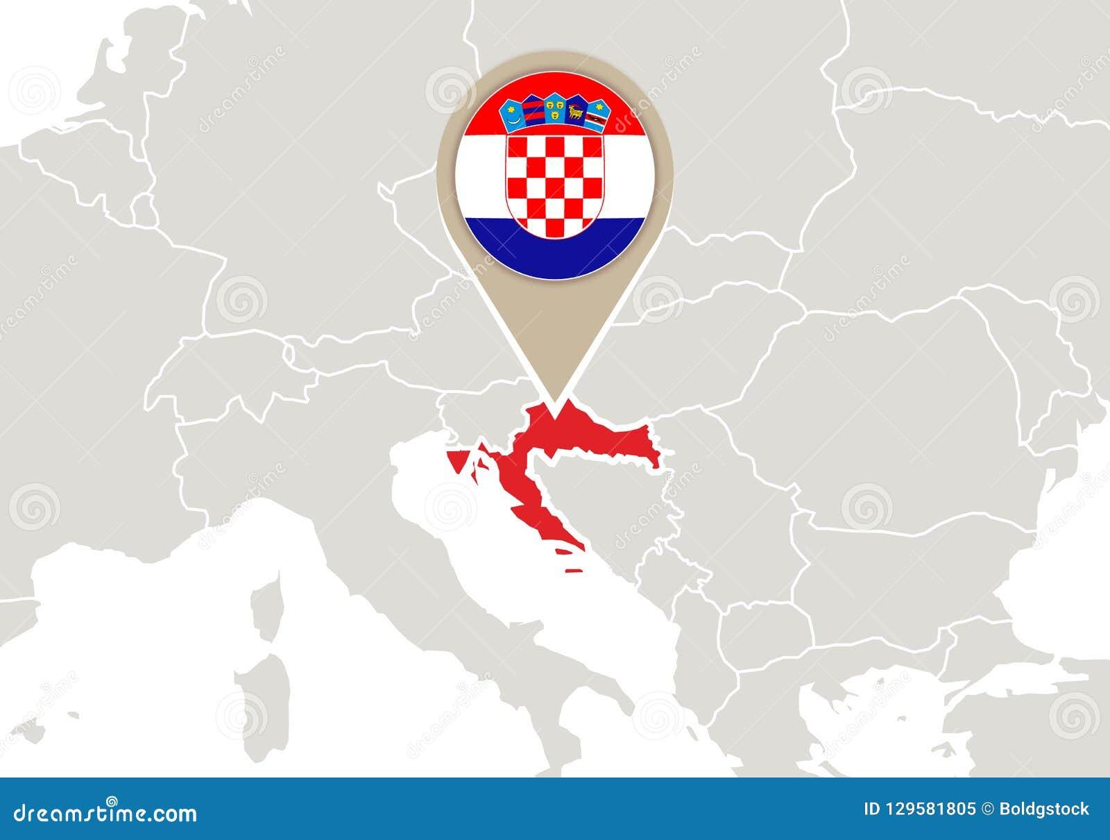 carte europe croatie