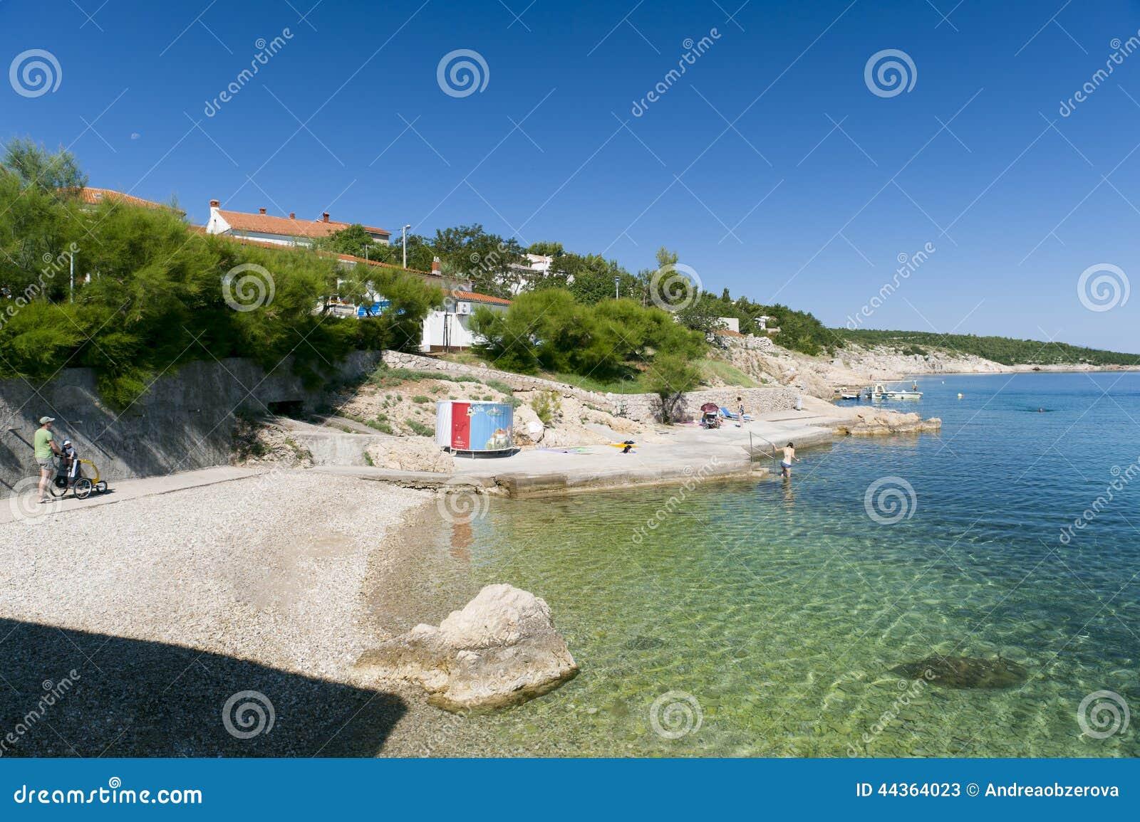 La Croazia, Kvarner, isola di Krk, città del silo