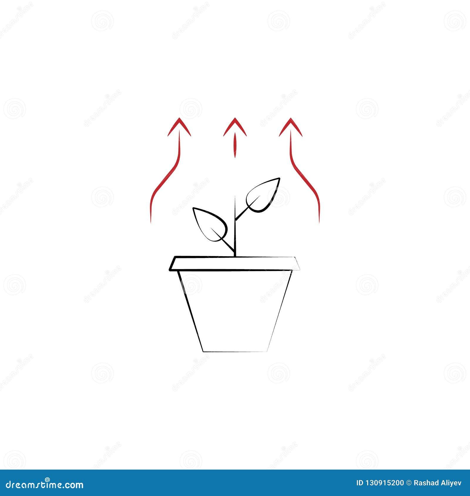 La croissance a besoin de 2 a coloré l icône tirée par la main Illustration d élément coloré d équipe Conception de symbole d ens