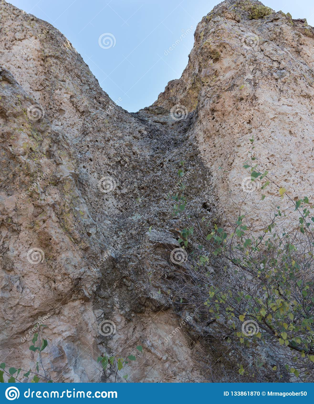 La Cueva rock close up in New Mexico.