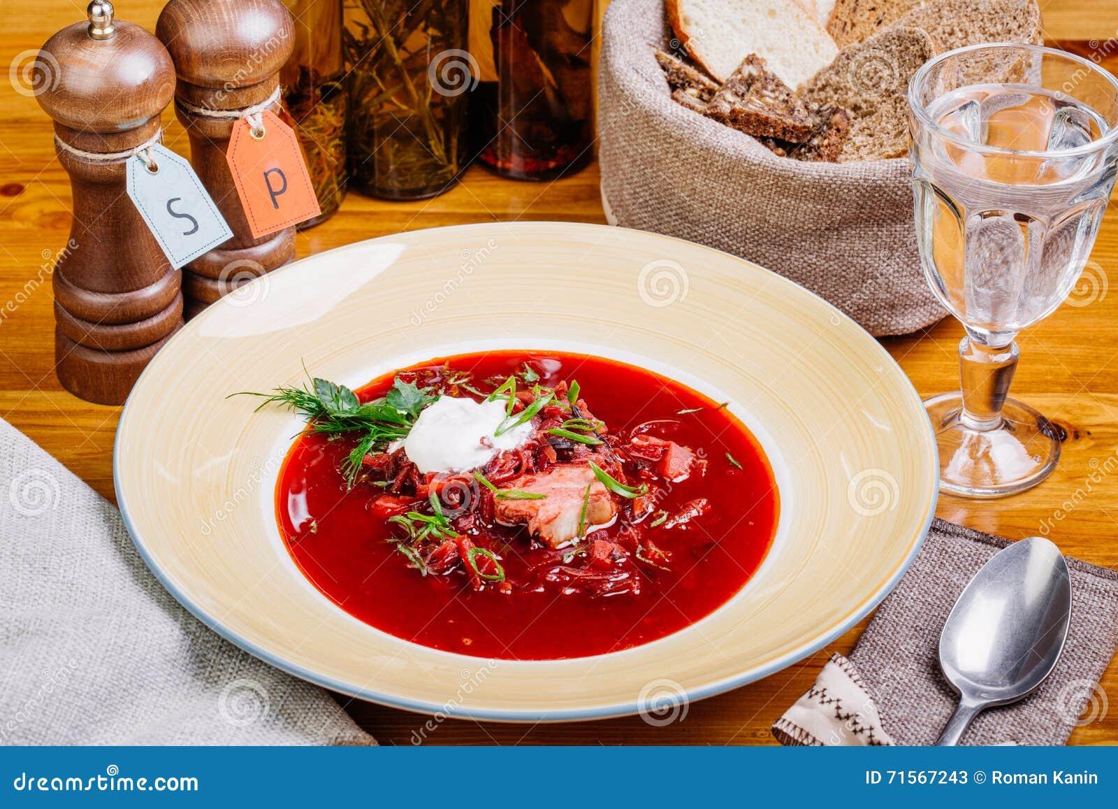 La Cuisine Ukrainienne Et Russe Soupe A Fait Cuire En Bouillon De
