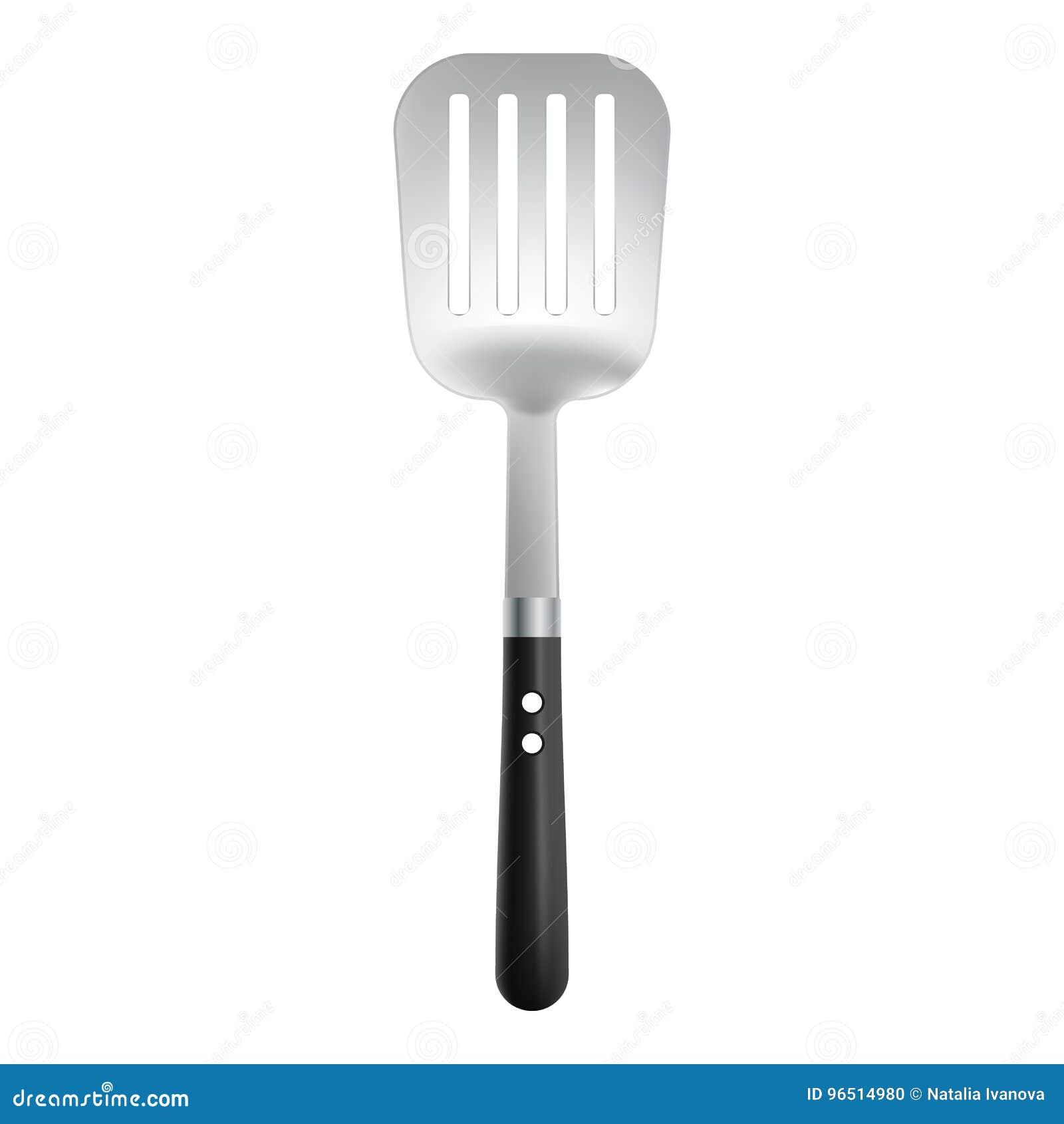 La cuisine usine la spatule d isolement sur un fond blanc Illustration réaliste de vecteur