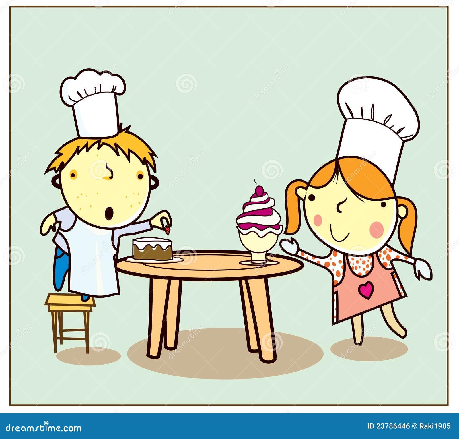 Image libre de droits: la cuisson des enfants