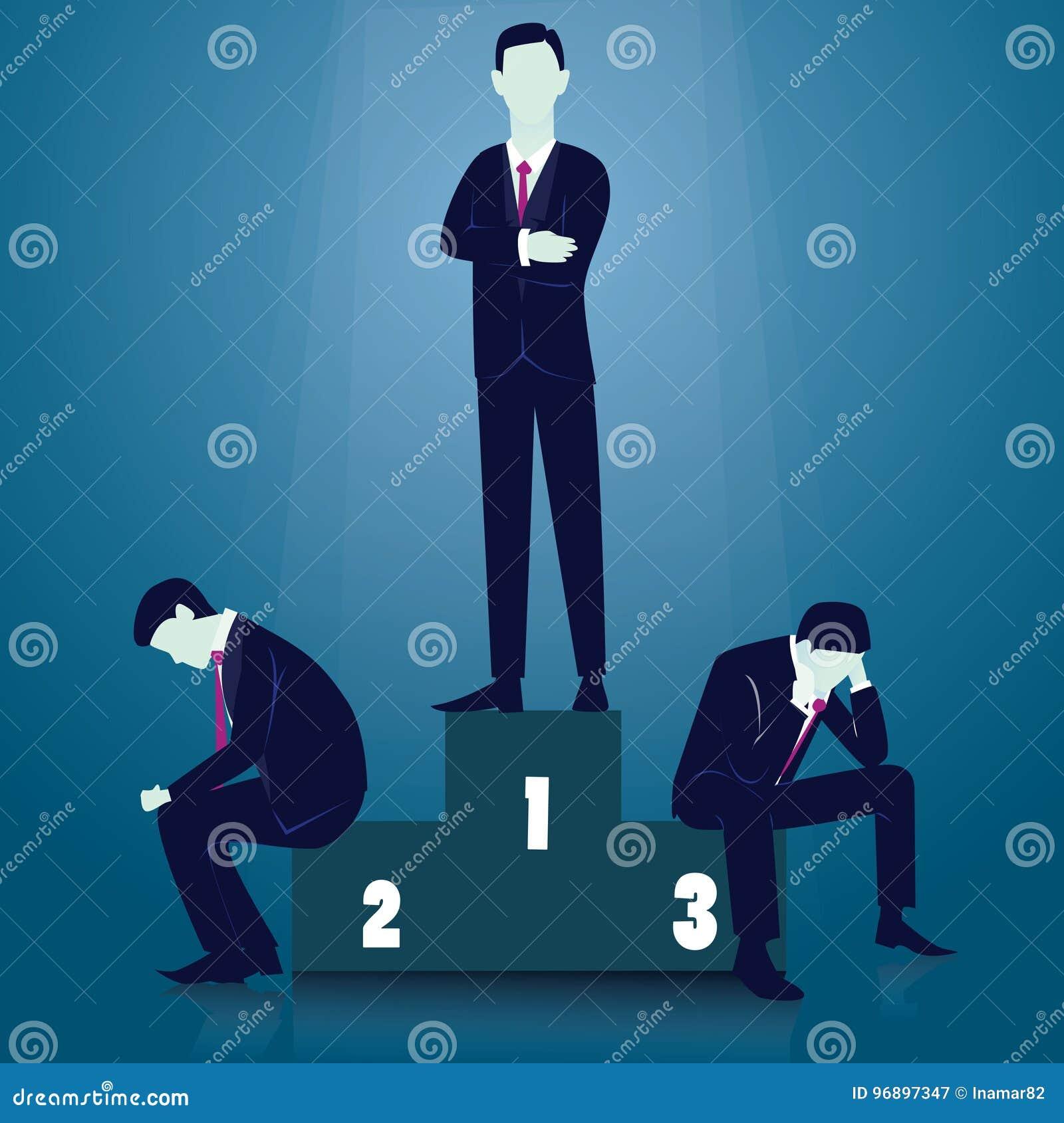 La curvatura e la holding asiatiche dell uomo d affari della concorrenza concept Uomo d affari del vincitore