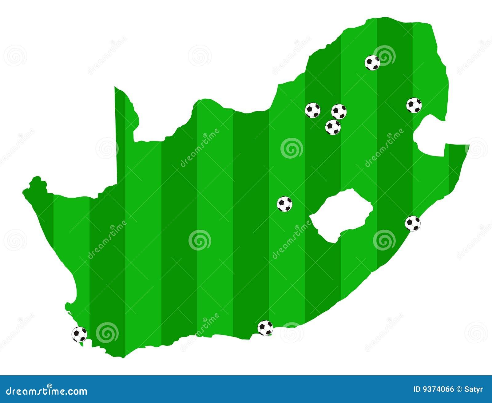 La cuvette 2010 de l Afrique la FIFA tracent le monde du sud de vecteur