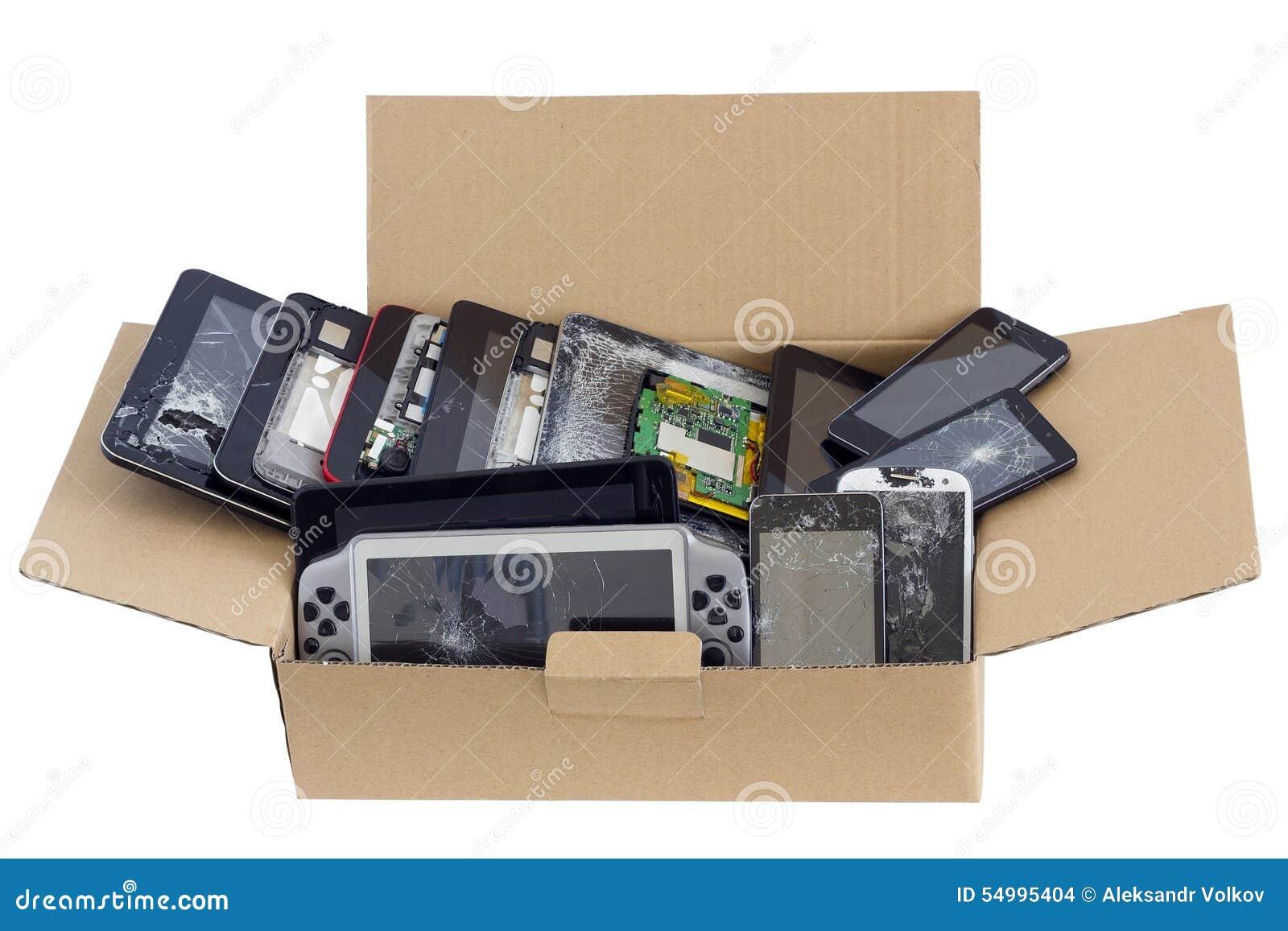 La décharge des instruments électroniques de déchets a isolé le concept