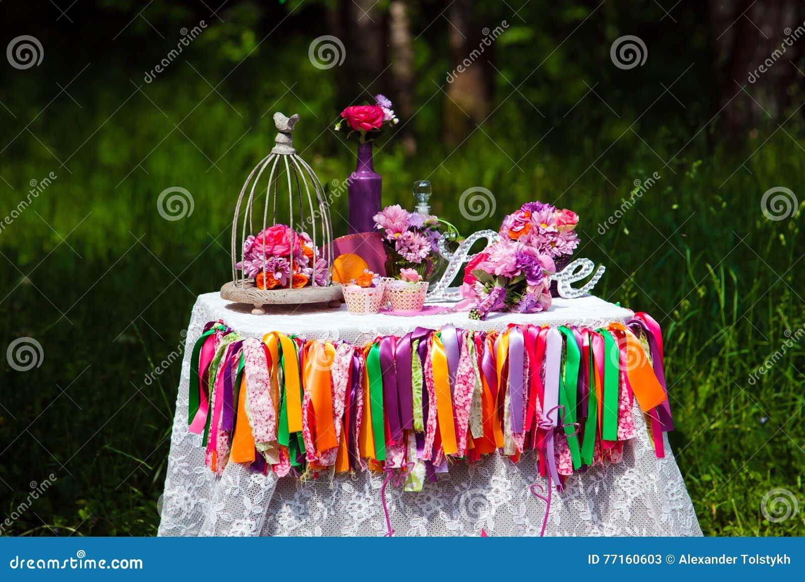 La décoration de mariage, aiment le signe en bois