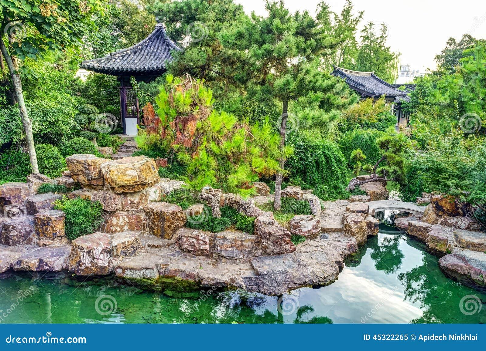 La Décoration Extérieure Traditionnelle Du Jardin Chinois Image ...