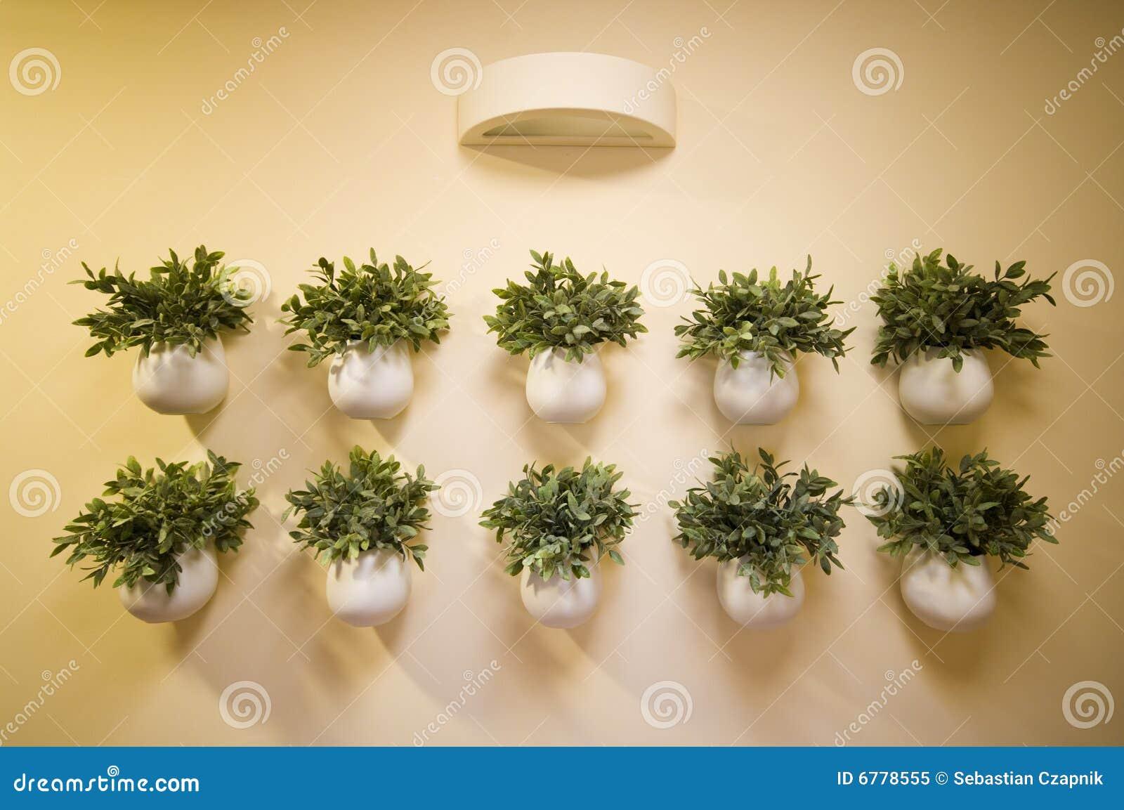 La décoration fleurit le mur