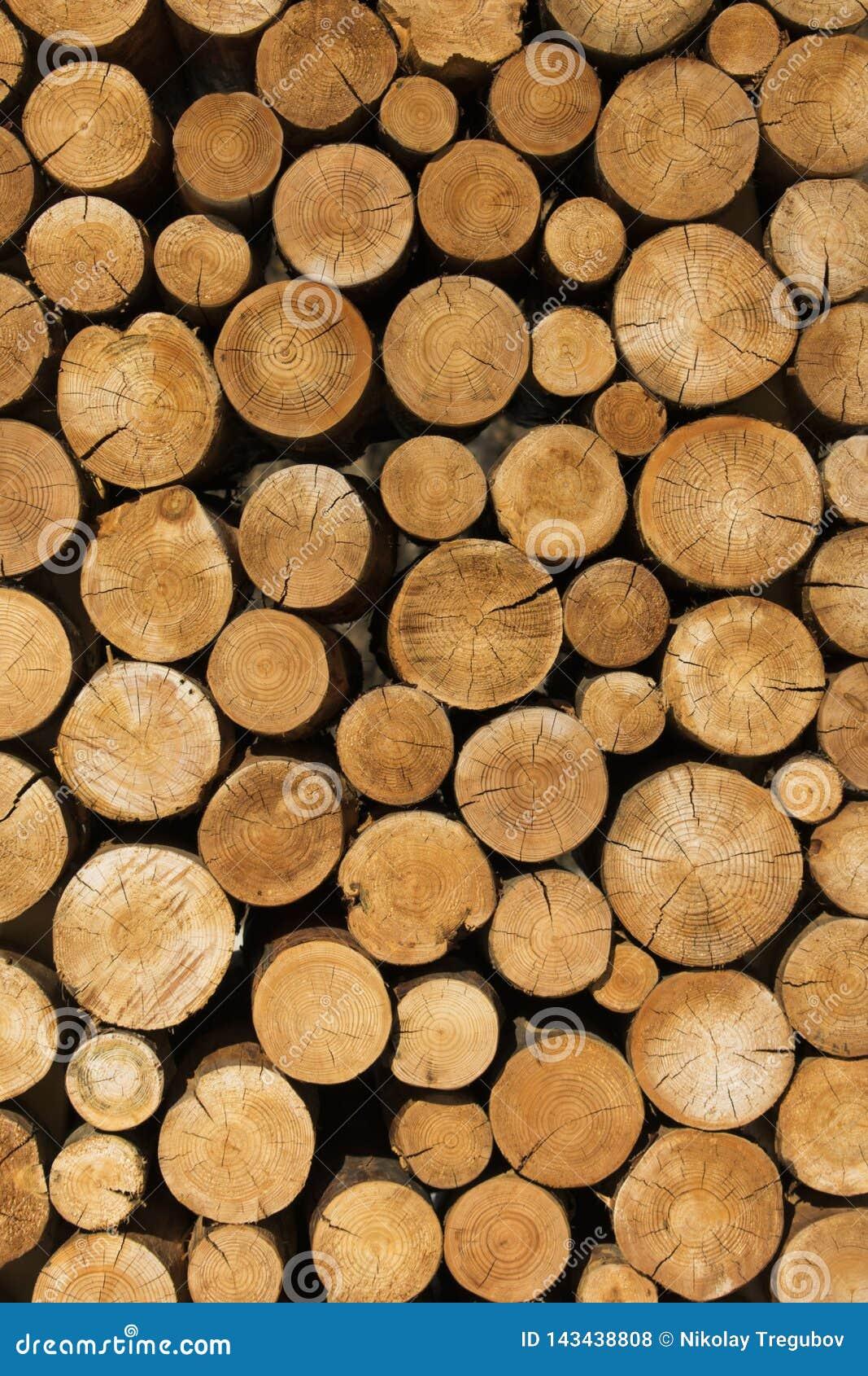 La decoración de registros de madera decoración