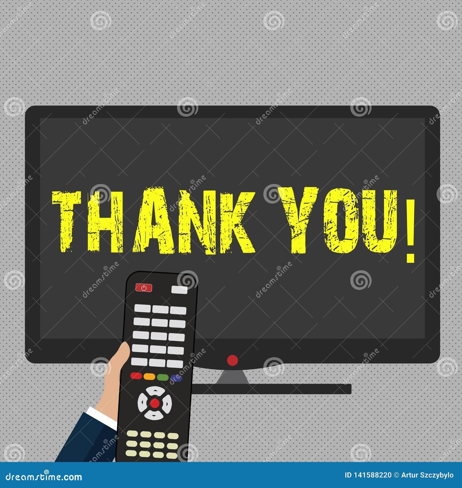 La demostración de la nota de la escritura le agradece Gratitud de exhibición del reconocimiento del saludo del aprecio de la fot